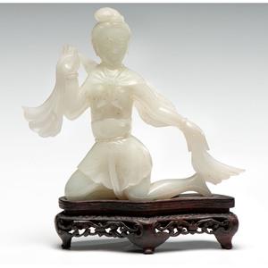 White Jade Guanyin Figure