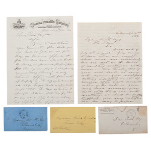 Southern Letter Collection of Attorney Sydney Smith, Williamsburg, Virginia