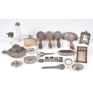 Sterling-Mounted Dresser Accessories