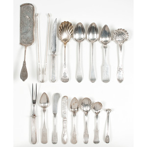 American Coin Silver Flatware Including Cincinnati & Louisville Makers