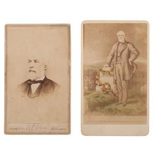 Robert E. Lee CDVs, Including Brady View
