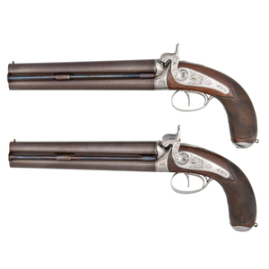 Pair of Pistols Marked Gastine-Renette Presented by Emperor Napoleon Bonaparte III