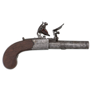 H. Nock Twist-Off Barrel Flintlock Pistol