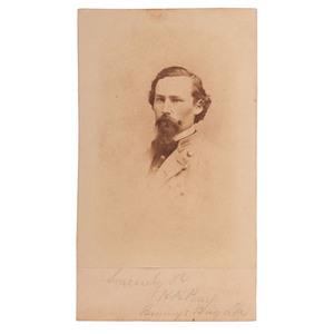 Major Heman H. Perry, Recipient of Grant's Opening of Communications, Civil War CDV