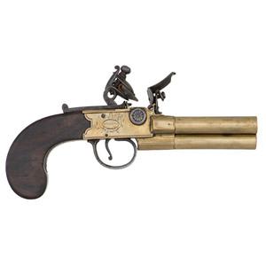 Wheeler Three-Barrel Flintlock Pistol