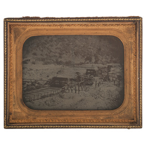 Fantastic Half Plate Ambrotype of a Large-Scale California Mining Operation