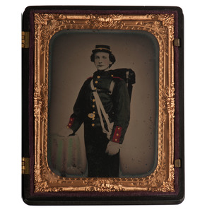 Quarter Plate Ambrotype of a New York Militiaman