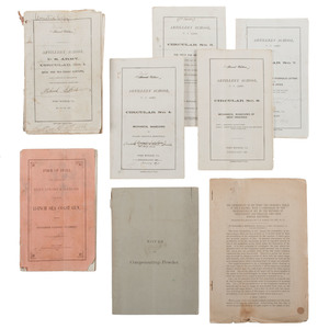 Post-Civil War USA Coastal/Siege Artillery School Revision Collection of Documents and Pamphlets