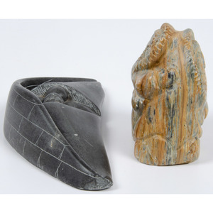 Isa Ammitu (Inuit, b. 1951) Soapstone Sculpture PLUS