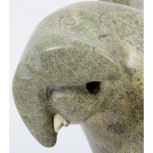 Kellypalik Qimirpik (Inuit, 1948-2017) Soapstone Sculpture PLUS