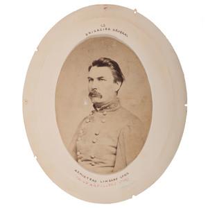 CSA General Armistead Lindsay Long, Rare Albumen Photograph