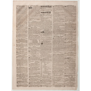 Whig Party Illustrated Newspaper Poster Featured in The Lowell Courier, Massachusetts, 1839