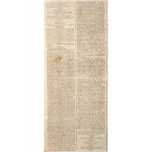 George Washington's First Inauguration and Address Covered in Connecticut Newspaper, 1789