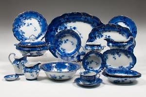 Ridgway Flow Blue Porcelain, Lugano