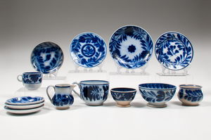 Flow Blue Plates and Tablewares