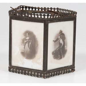 Milk Glass Photographic Lamp Shade Featuring Ulysses S. Grant