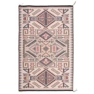 Rita Begay (Dine, 20th century) Attributed, Navajo Raised Outline Teec Nos Pos Weaving / Rug