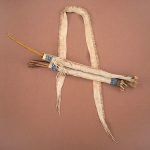 Sioux Child's Beaded Hide Bowcase and Quiver