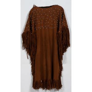 Beaded Felt Dress with Loom-Beaded Belt AND Dance Wand