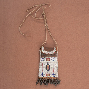 Sioux Beaded Hide Strike-a-Light Bag