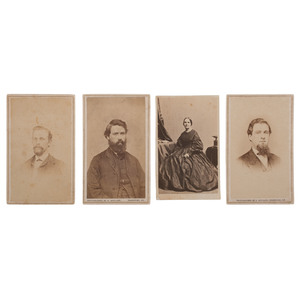 Confederate CDV Collection, Featuring Possible CSA Spy Charlotte Moon Clark