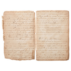 Famous Maryland Patriot Family Ca 1830 Manuscript Recipe Book, Identified to Ann Cadwalader Ringgold Schley