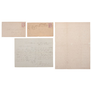 POW Letters and Covers from Camp Chase, OH and Fort Delaware, DE by Captain Vachel Weldon, 25th Texas Cavalry, Plus