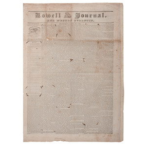 Battle and Fall of the Alamo Reported in Massachusetts Newspaper