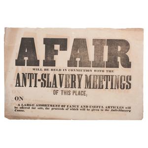 Ohio Anti-Slavery Broadside, Ca 1840