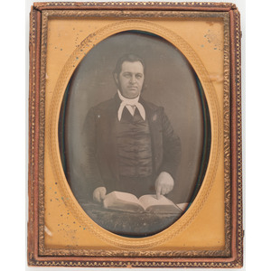 Pair of Half Plate Daguerreotypes of Identified Ohio Minister