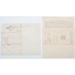Siege of Petersburg (Battle of Jerusalem Plank Road) Manuscript Map, Plus