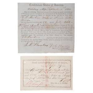 Rare Confederate Vicksburg Parole
