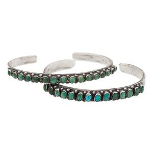 Zuni Petit Point Turquoise Cuff Bracelets