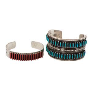 Zuni Needle Point Cuff Bracelets