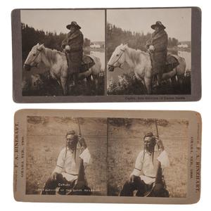 Custer's Scout Curley, Pair of Stereoviews