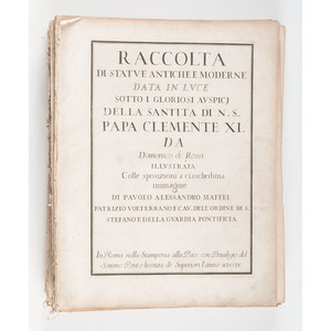 [Illustrated - Architecture - 18th Century] Domenico de Rossi, Raccolta del Statue Antiche e Moderne ... with 162 (of 163) Plates