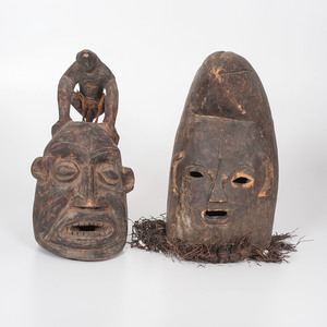 African Helmet Masks, Sold to benefit the Acquisitions Fund of the Berea College Art Collection