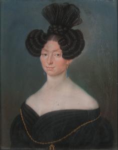 19th Century Pastel Portrait of a Woman