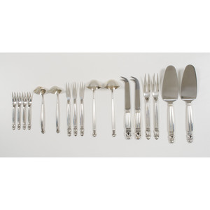 Georg Jensen Sterling Acorn Pattern Flatware