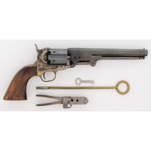 Cased Reproduction Colt Navy Revolver by Uberti
