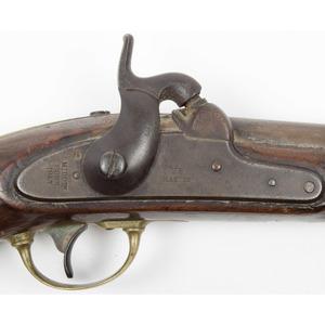 Aston U.S.  Model 1842 Percussion Pistol