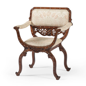 Lady's Chair in the Chinese Style with Mother-of-Pearl Inlay