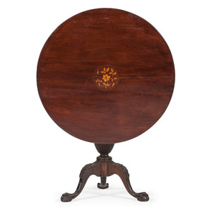English Chippendale-Style TIlt Top Table