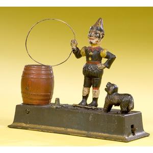 Trick Dog Cast Iron Mechanical Bank,