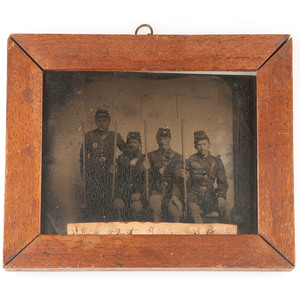 Civil War Tintypes of Soldiers from Zoar, Ohio, Most from Co. B, 51st OVI