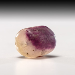 A Large Lavender Fluorite Barrel Bead, 7/8 in.