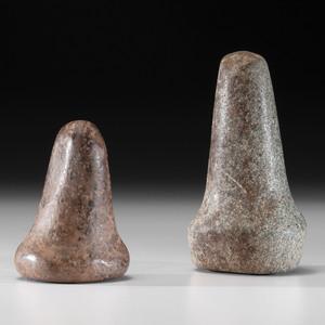 Two Bell Pestles, Longest 6-1/4 in.