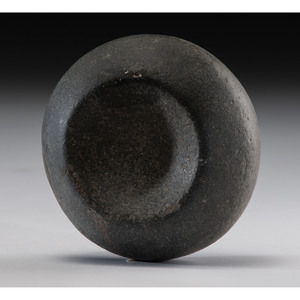 A Granite Cupped Discoidal, 3-1/2 in.