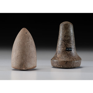 A Bell Pestle AND A Bullet Pestle, Largest 5-1/2 in.