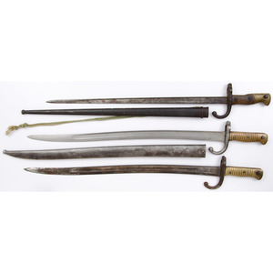 Lot of Three French Bayonets